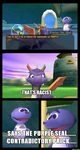 ( Spyro the Dragon ) Those Damn Racist Seals Meme by KrazyKari