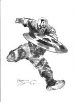 Capitain America by rafaelalbuquerqueart
