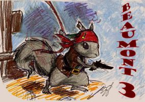 Pirate Squirrel by Hwanggeum-Yong