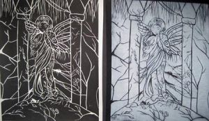 Linoleum Cut Prints by TheDreamingDreamer