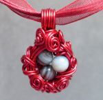 Dragon's Nest Necklace - Red by sojourncuriosities