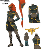 Gaiadon, Queen of the Gerudo by kiotsukatanna