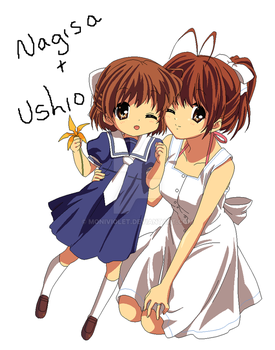 Nagisa and Ushio .:Clannad After Story:. by MoniViolet