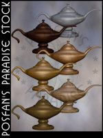 Genie's Lamp 005 by poserfan-stock