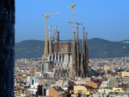 Sagrada Familia from a distance by MisterKrababbel
