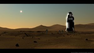 First men on Mars! by axeman3d