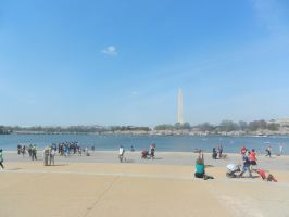Washington Skyline from Jefferson Memorial by Flaherty56