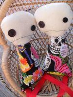 Mexican Sugar Skull Stick Figure Buddies by money4cocaine