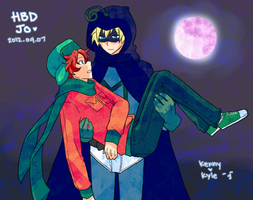 Mysterion and Kyle by azngirlLH