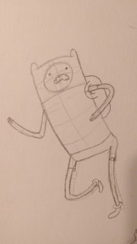 Finn the human sketch by TheRogueTurtle