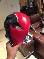 Red hood helmet Mk II by SynTheHunter