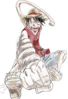 Luffy by HyruleExorcist