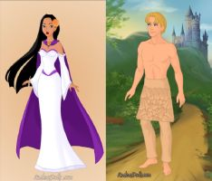 Pocahontas and John Smith getting married by kaybugg1
