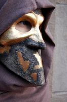 Gold and Stone Bauta Mask by AnotherFaceStudio
