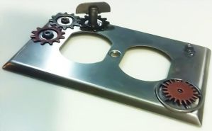 Steampunk'ed Electrical Plate by Deathsdoor-inc