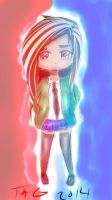 Red and Blue - Chibi Drawing - IDK by KingFromHatena
