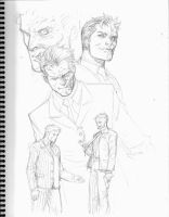 Two Face sketches by 0boywonder0