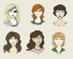 Humanstuck Girls by The-DarkBunny