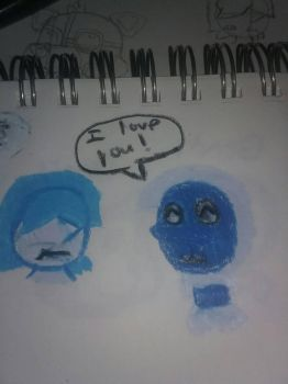 Blue Pearl and Blue Zircon color pencil version  by peridot-the-gem-8