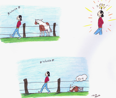 Cow Tipping by spiderling00