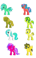 free MLP adoptables SET 1 by superwillygirl