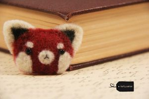 needle felt red panda (forsale) by FluffyParcel