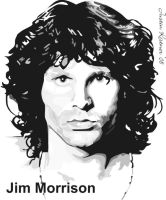 Jim Morrison vector SAMPLE by justin33k