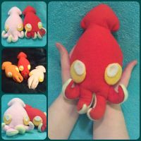 Baby Squid Plush by ThePinkPoudo