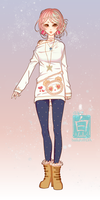 CLOSED Panda Sweater Girl Adopt by bailulu