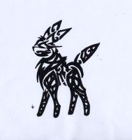 Celtic Umbreon Tribal by Skrayle