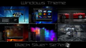 Black Silver Se7en Desktop Theme for Windows 7 by ionstorm01