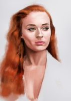 Sophie Turner sketch by tonyob