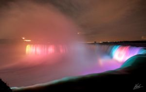 Niagara Falls Night Wallpaper by andy1349