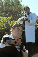 Wyld Kat and Doctor Zoltar Take Aim by AprilMoonshine