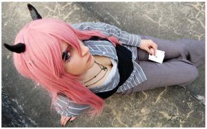 Megurine Luka ( pokerface ) by Safiriel