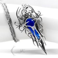 XUGTHYR - Silver and Cobalt Blue Quartz. by LUNARIEEN