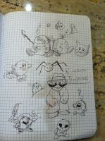 Kirby Sketches 2 by mrmenworld2010