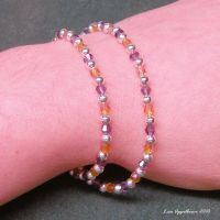 LSU Faceted Glass Bracelets by Cillana