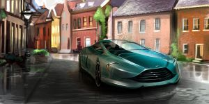 Aston Martin in scene by TonyWcK