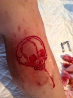 Skull scarification by TheChristOff