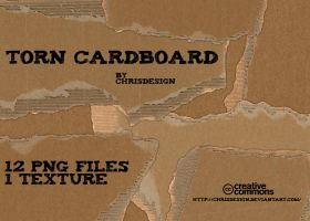 Torn Cardboard Textures by Chrisdesign