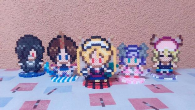 Miss Kobayashi Dragon Maid Perler Figures by Kirbmaster