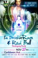 I'm Drinkin Rum and Red Bull by Brainz-Designz