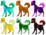 Dog adopts (2/6 open lower price) by SanitysAdopts