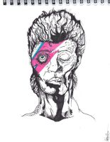 Zombie Bowie by thewickedrobot
