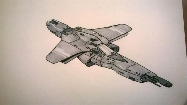 fighter sketch by SDFleshmaster