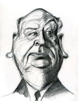 Alfred Hitchcock by Caricature80