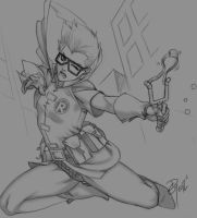 Carrie Kelly sketch by dg-doodles