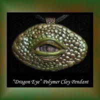 Dragon Eyes Polymer Clay by KabiDesigns