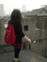 Looking at the city by Laura-in-china